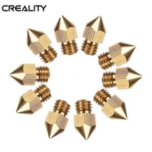 IsMyStore: Creality 10PCS 0.4mm Copper Hotend MK8 Extruder Nozzle ForEnder-3 3D Printer Parts For Creality CR-10 CR-10S S4 S5