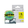 SU5Y for KingJim Epson Label Tape 5mm Black on Yellow Heat Shrink Tube Label Tapes Compatible for KingJim/Epson Label Printer
