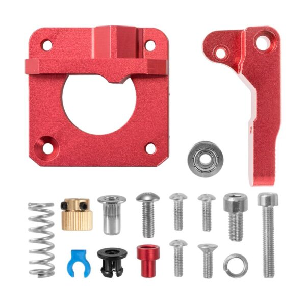 CREALITY 3D Red Metal MK8 Extruder Aluminum Alloy Block Bowden Extruder 1.75mm Filament for CREALITY 3D Ender3 CR-10 CR-10