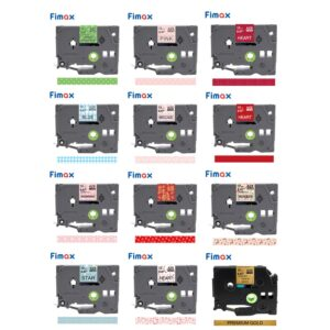 Fimax 31 Colors tze231 Tze-131 Pattern Tapes 12mm Compatible for Brother P-touch Printer tze tape Tze-231 Gift label Ribbons
