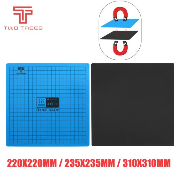 3D Printer Parts 220*220mm New Magnetic Print Hot Bed Tape Heated Bed Sticker Build Sheets Flex Plate Platform Heatbed