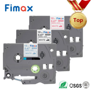 Fimax 3Pcs TZe-FA3 TZ-FA3 Compatible for Brother P-touch Fabric Iron-on tze tape TZeFA3 fa231 12mm Brother P touch Label Printer (3 PCS mixed color)