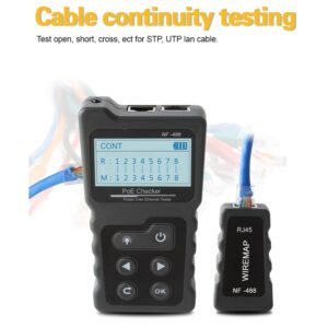 Multi-functional LCD Network Cable Tester Current Tester with Cable Tester PoE Checker Inline PoE Voltage rj45 lan tester tools
