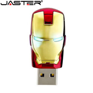 JASTER Fashion Avengers Iron Man LED Flash USB Flash drive Memory stick Pendrive 4gb 16gb 32gb 64g metal pendrive usb creative