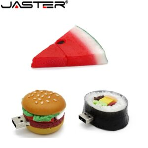 JASTER Hamburger food usb flash drive creative sushi watermelon pendrive pen drive 4gb 16gb 32gb 64GB memory stick u disk gift