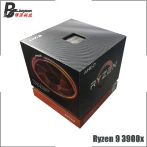AMD Ryzen 9 3900X R9 3900X 3.8 GHz Twelve-Core 24-Thread CPU Processor 7NM L3=64M 100-000000023 Socket AM4 New and with fan
