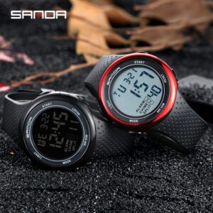 Waterproof Digital Watch Men Alarm-clock Date-week-display Sports Electronic Watches Luminacence Modes relogio masculino SANDA