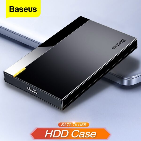 Baseus HDD Case 2.5 SATA to USB 3.0 Adapter Hard Drive Enclosure for SSD Disk HDD Box Type C 3.1 Case HD External HDD Enclosure
