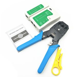 LAN Network Tool Kit RJ45 RJ11 RJ12 CAT5 Cable Tester Crimp Crimper Plier Cutter