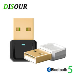 Bluetooth 5.0 USB Adapter Mini Stereo Wireless Bluetooth Dongle For PC Computer Laptop Mouse BT Bluetooth Receiver Transmitter (black)