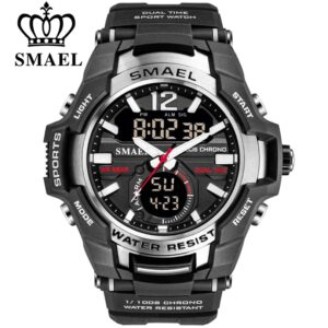SMAEL 2020 Men Watches Fashion Sport Super Cool Quartz LED Digital Watch 50M Waterproof Wristwatch Men's Clock Relogio Masculino