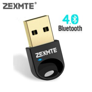 Zexmte USB Bluetooth Adapter Dongle CSR 4.0 Bluetooth 4.0 For Windows10/8/7/Visa/XP Desktop Laptop Mouse and Keyboard Audio