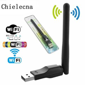 Chielecna150Mbps Ralink RT5370 Wireless Network Card Mini USB 2.0 WiFi Adapter Antenna PC LAN Wi-Fi Receiver Dongle 802.11 b/g/n