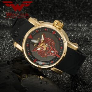 WOLF-CUB 30BAR original design personalized sports man watch dial Langtou Japan original movement