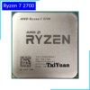 AMD Ryzen 7 2700 R7 2700 3.2 GHz Eight-Core Sinteen-Thread 16M 65W CPU Processor YD2700BBM88AF Socket AM4