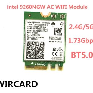 1730Mbps Wireless 9260NGW Wifi Network Card For Intel 9260 Dual Band NGFF 2×2 802.11ac Wifi Bluetooth 5.0 for Laptop Windows 10