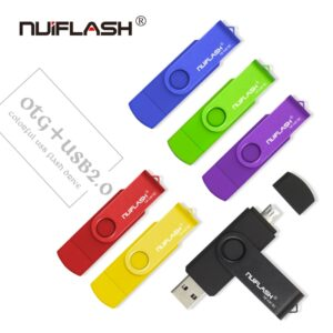 nuiflash Smart Phone USB Flash Drive Metal Pen Drive 64gb pendrive 8gb OTG external storage micro usb memory stick Flash Drive