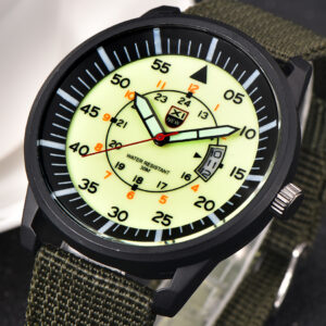 2018 XINEW Luxury Brand Nylon Strap Analog Men's Quartz Date Clock Fashion Casual Sports Watches Men Military Army Wrist Watch