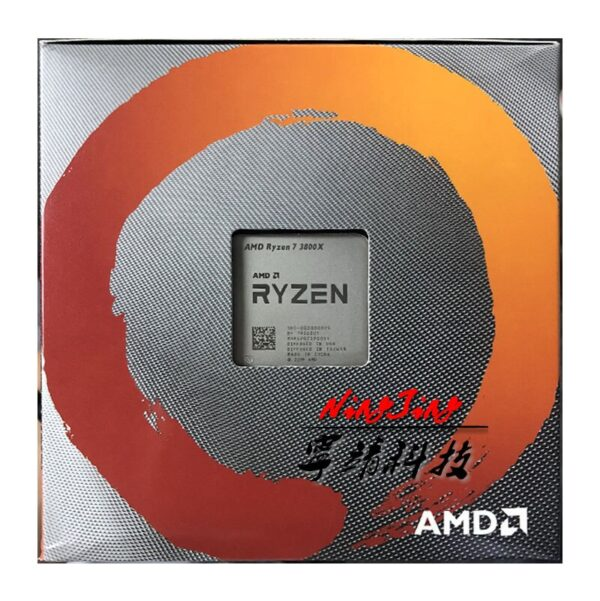 AMD Ryzen 7 3800X R7 3800X 3.9 GHz Eight-Core Sixteen-Thread CPU Processor 7NM L3=32M 100-000000025 Socket AM4 New and with fan