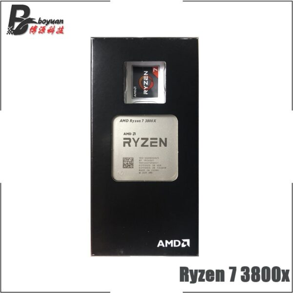 AMD Ryzen 7 3800X R7 3800X 3.9 GHz Eight-Core Sixteen-Thread CPU Processor 7NM L3=32M 100-000000025 Socket AM4 New but no fan