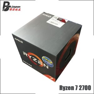 AMD Ryzen 7 2700 R7 2700 3.2 GHz Eight-Core Sinteen-Thread CPU Processor L3=16M 65W YD2700BBM88AF Socket AM4 New and with fan