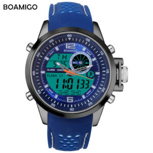 BOAMIGO Brand Men Sports Watches Military Quartz Watches Analog Digital LED Watches 30M Waterproof Wristwatch Relogio Masculino