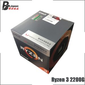 AMD Ryzen 3 2200G R3 2200G 3.5 GHz Quad-Core Quad-Thread CPU Processor L2=2M L3=4M 65W YD2200C5M4MFB Socket AM4