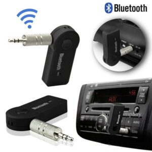 Wireless Bluetooth Transmitter Receiver Portable Jack 3.5 AUX Audio Adapter for Car TV PC Bluetooth Receiver Kits Music Receiver (Black)