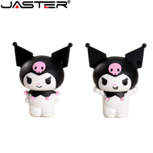 JASTER USB flash drive 4GB 8GB16GB Cartoon USB2.0 Kuromi 32GB 64GB128GB Ornament storage Cute cartoon doll bulk gift Silica gel