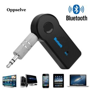Bluetooth 5.0 Audio Receiver Transmitter Mini Stereo Bluetooth AUX USB 3.5mm Jack for TV PC Headphone Car Kit Wireless Adapter (Black)