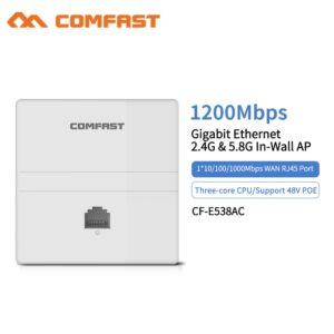Wireless Dual Band In wall AP 2.4 +5.8 Ghz 1200Mbps Gigabit Ethernet Access Point 802.11 AC Hotel Home RJ45 Lan Router Repeater