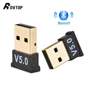 Wireless 5.0 Bluetooth USB Adapter Bluetooth Dongle Bluetooth Transmitter USB Adapter for Computer PC Laptop Wireless Mouse
