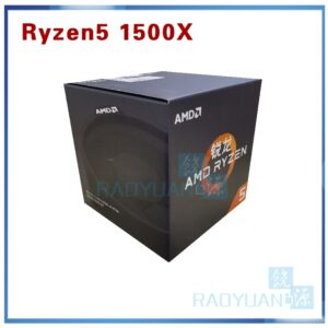 AMD Ryzen 5 1500X R5 1500X 3.5 GHz Quad-Core CPU Processor L3=16M 65W YD150XBBM4GAE Socket AM4 with cooler fan