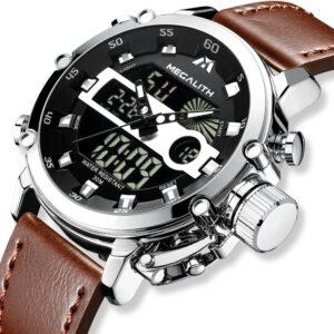 MEGALITH Fashion Men's LED Quartz Watch Men Military Waterproof Watch Sport Wrist Watch Men Clock