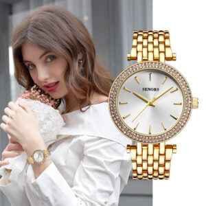 IsMyStore: SENORS 2020 Women's watch Ladies Bracelet watch fashion golden Black Blue women's woman reloj mujer saat relogio zegarek damski