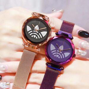 Luxury Rose Gold Women Watches Fashion Diamond Ladies Starry Sky Magnet Watch Waterproof Female Wristwatch