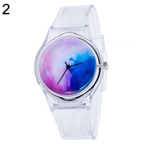 Cute Clock Transparent Silicone Kids Women Colorful Dial Jelly Quartz Analog Wrist Watch Ladies Dress Watches Gift Luxur