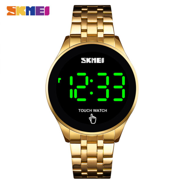 Digital Watches Stainless Steel – SKMEI Fashion Men Led Light Touch Screen Waterproof Male Wristwatch Clock Relogio Masculino
