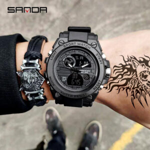 2019 New SANDA 739 Multifunction Sports Men's Watches Top Brand Luxury Military Quartz Watch Men Waterproof relogio masculino