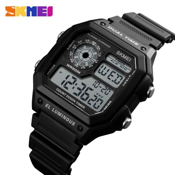 Fashion Men's Sports Watch Square Dual Time LED Digital Watches Male Clocks Relojes Deportivos Herren Uhren Reloj Hombre Montre