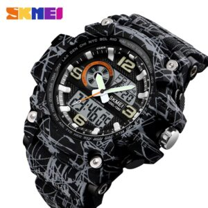 IsMyStore: SKMEI New S Shock Men Sports Watches Big Dial Quartz Digital Watch For Men Luxury Brand LED Military Waterproof Men Wristwatches