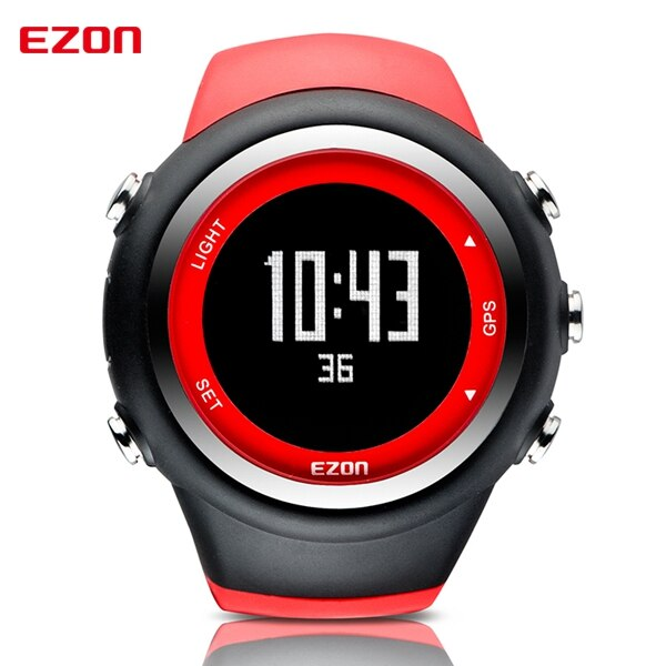 EZON T031 Mens GPS Sports Watches 50M Waterproof Distance Pace Calorie Counter GPS Timing Multifunctional Digital Wrist Watches