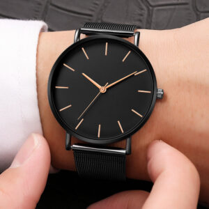Luxury Women Watch Mesh Stainless Steel Casual Bracelet Quartz Wrist Watch Women Watches Clock