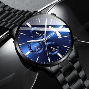 BELUSHI Fashion Men's Quartz Watch Chronograph Sport Men Watches Top Brand Luxury Full Steel Waterproof Clock Male Wristwatch
