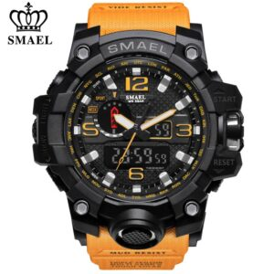 SMAEL Brand Luxury Military Sports Watches Men Quartz Analog LED Digital Watch Man Waterproof Clock Dual Display Wristwatches