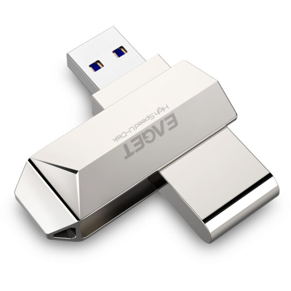 Eaget F70 USB 3.0 128GB Metal USB Flash Drive U Disk Pen Drive 360 Degree Rotation